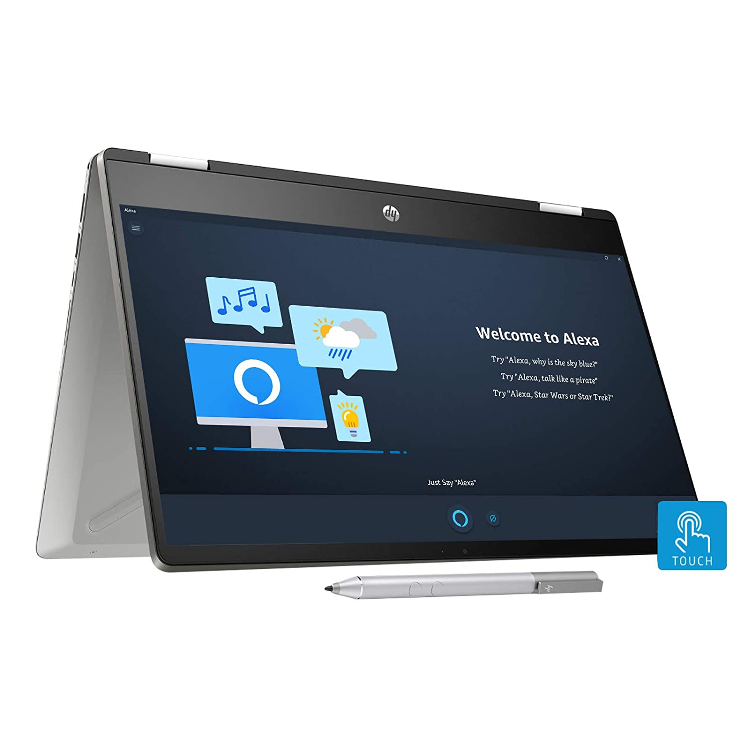 HP Pavilion x360 Core i5 10th Gen 14-inch FHD Touchscreen 2-in-1 Alexa Enabled Laptop