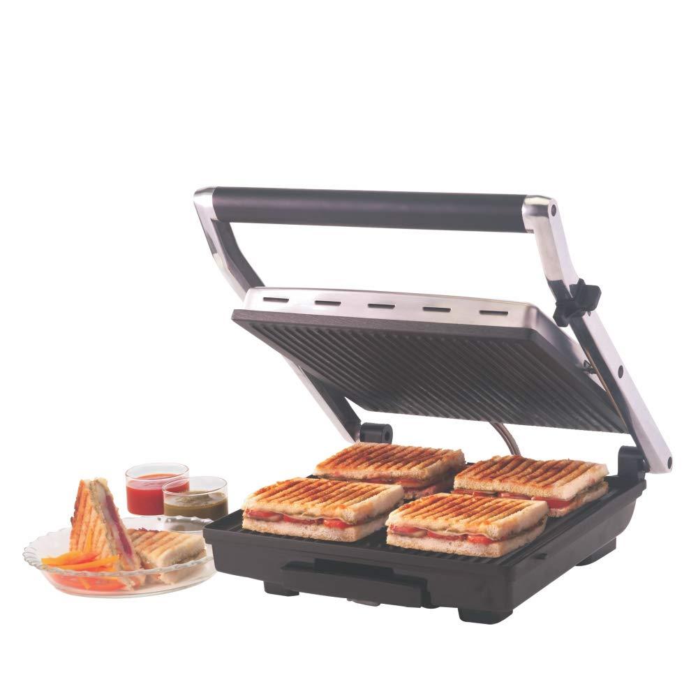 Borosil Super Jumbo BGRILLSS23 2000-Watt Grill Sandwich Maker