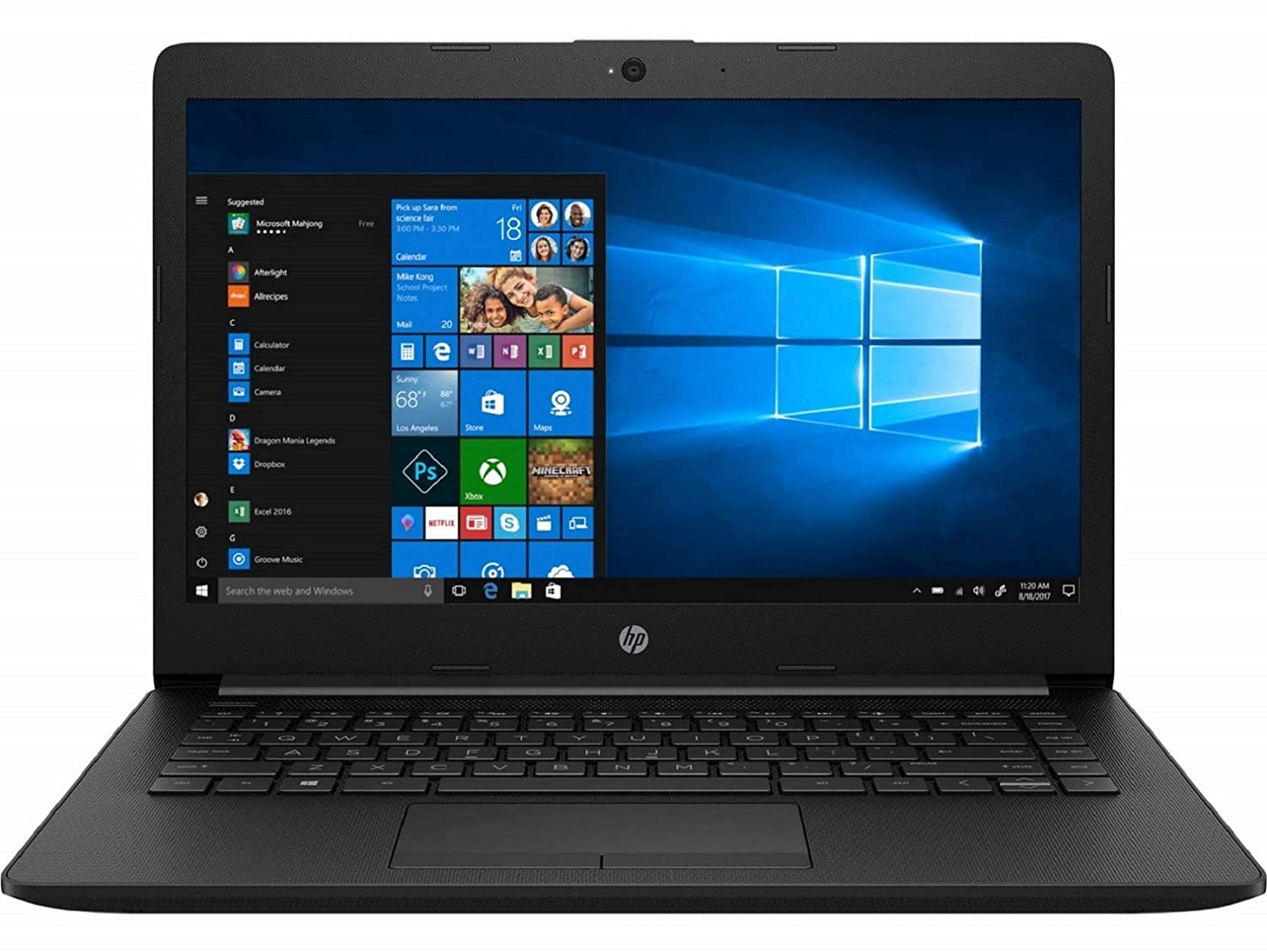 HP 14 Intel Core Pentium Gold Processor 14-inch Thin and Light Laptop