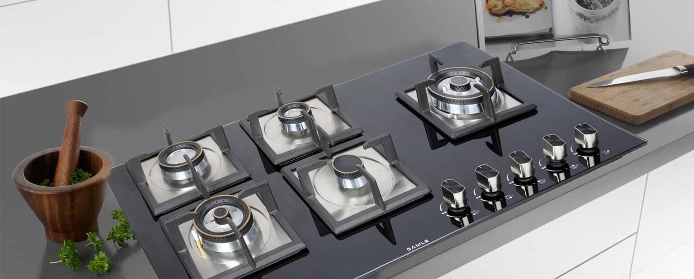5 burner hob top