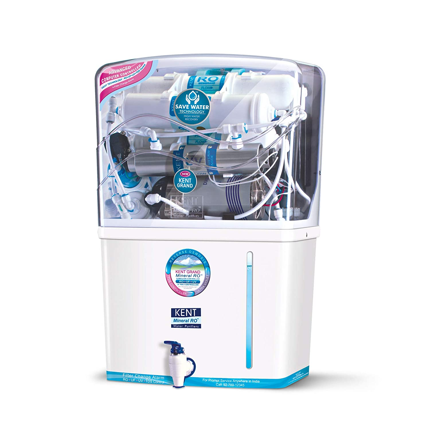 1. Kent Grand 8 litre Mineral RO+UV/UF Water Purifier