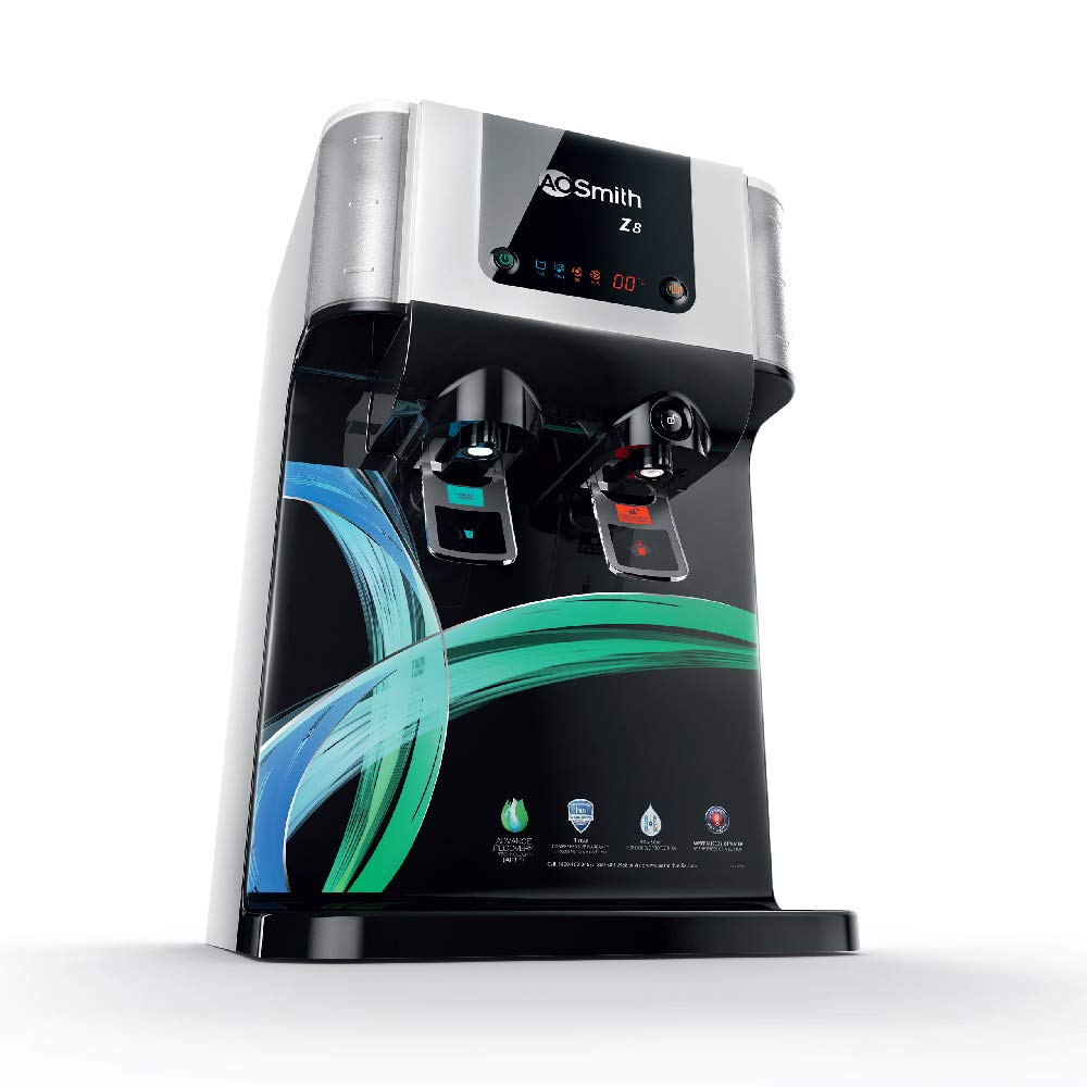 AO Smith Z8 Green RO 10 Litre Wall Mountable, Table Top RO+SCMT Black 10Litre Water Purifier