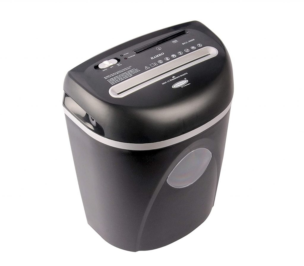 Bambalio 14 Sheets Cross Cut Credit Card-CD-DVD-Paper Shredder