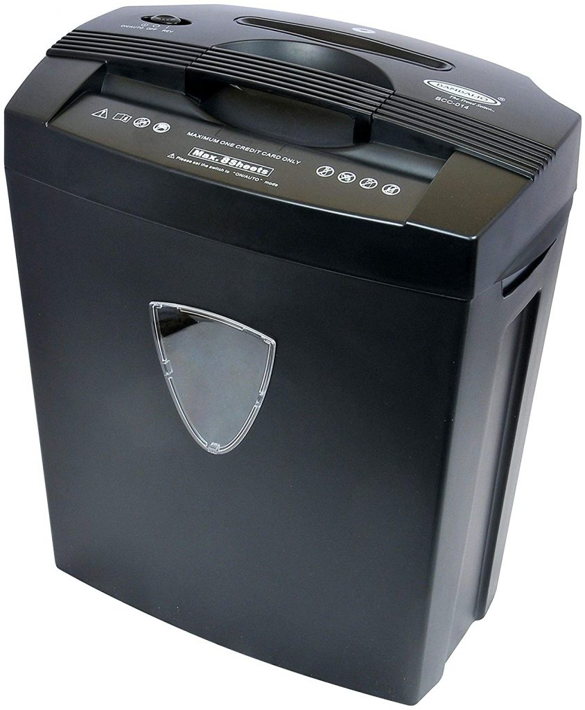 Bambalio BCC-014 8 sheets Cross Cut Paper Credit Card CD Shredder