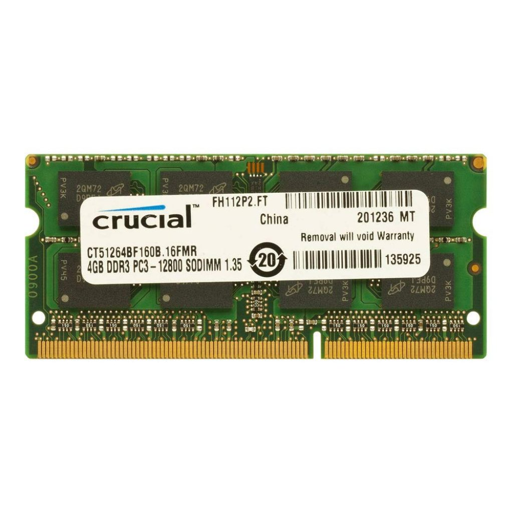 Crucial 4GB 1600MHz DDR3L 204-Pin Laptop Memory