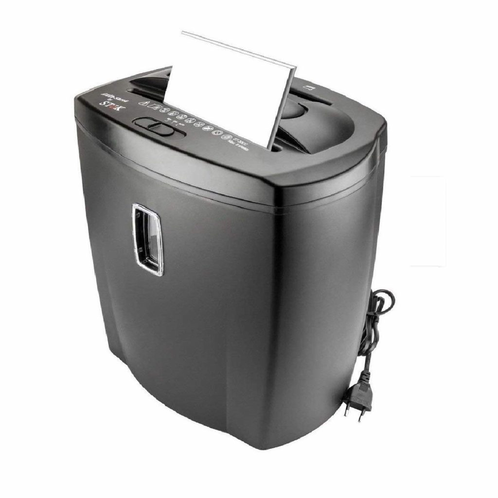 SToK 8 Sheet Cross Cut Paper Shredder 21 Liter Large Waste Bin Capacity