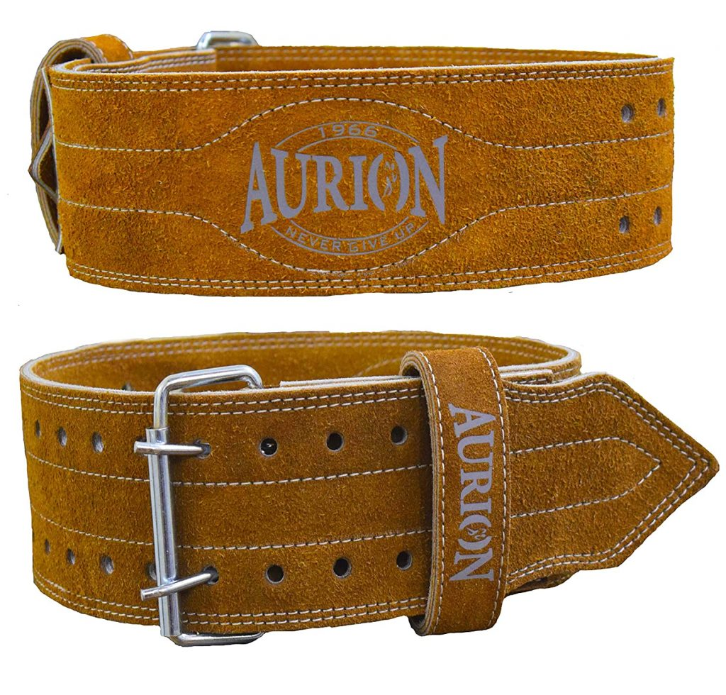 Aurion Genuine Leather Pro Weight Lifting Belt for Men and Women Durable Comfortable & Adjustable with Buckle   Stabilizing Lower Back Support for Weightlifting