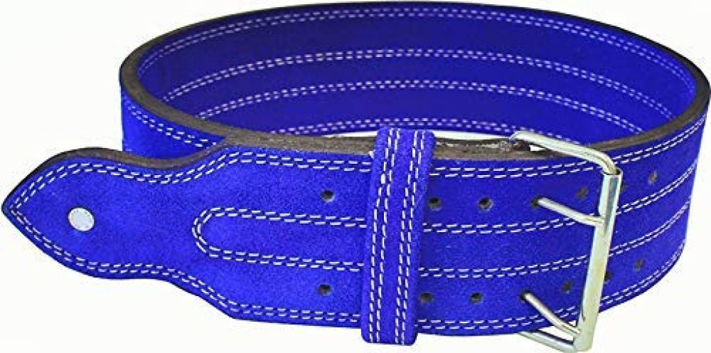 """Ader Leather Power Weight Lifting Belt- 4"""" Blue"""