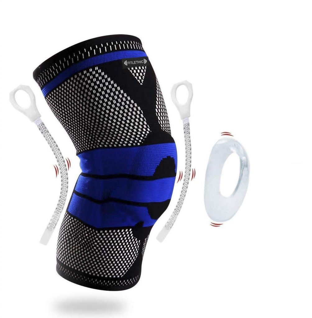 FITLETHIC Knee Support, Knee Compression Sleeve Brace with Patella Gel Pads