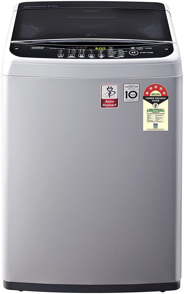 LG 6.5 Kg 5 Star Smart Inverter Fully-Automatic lg washing machine top load