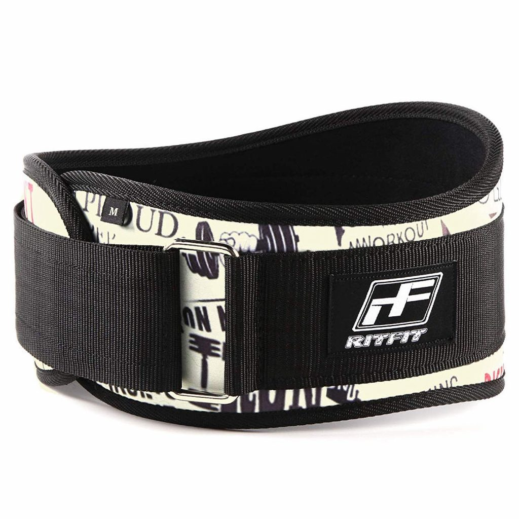 RitFit Weight Lifting Belt - Great for Squats, Clean, Lunges, Deadlift, Thrusters - Men and Women - 6 Inch